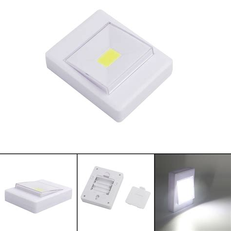 battery powered led light switch cordless cob led battery operated switch light magnetic