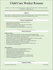 Resume Exle For Daycare Child Care Resume Sle Student Resume Template
