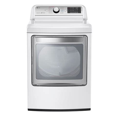 lg electronics 7 3 cu ft electric dryer with turbo steam
