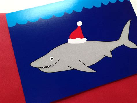 newest kid fish for christmas shark card pack shark by hello dodo notonthehighstreet