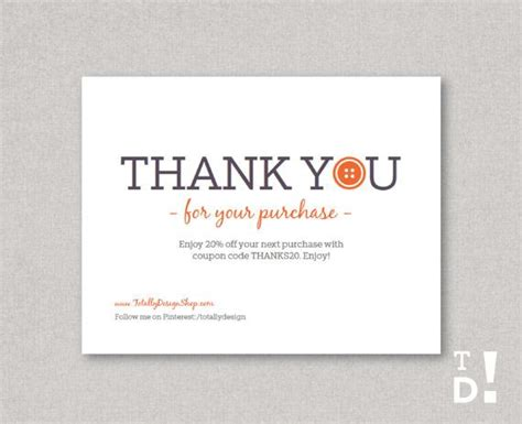 Purchase Order Thanks Letter Customizable Thank You For Your Purchase Card By Totallydesign 10 00 Business Thank You