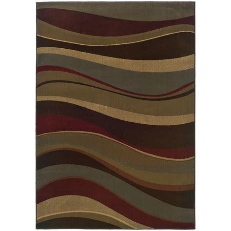 Surya Contemporary Rugs by Oriental Weavers Tybee 2364g Brown Multi Area Rug