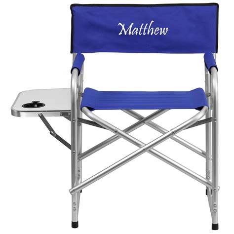 personalized canvas folding chairs personalized aluminum folding cing chair with table and