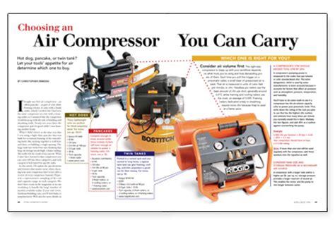 choosing an air compressor you carry homebuilding