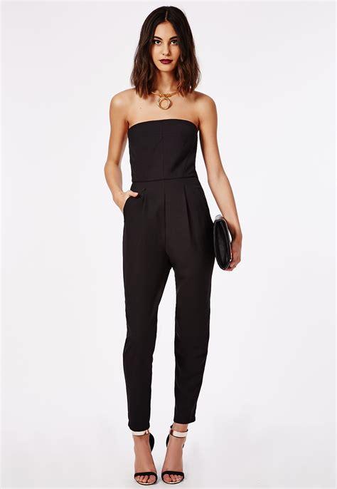Jumpsuit Jamsuit Jumsuit Jumpsuit tailored bandeau jumpsuit black jumpsuits missguided