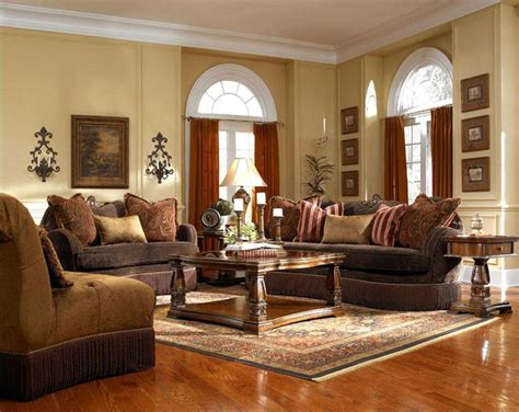 Contemporary Living Room Interior Design Ideas With Brown Living Room Sofa And Chair Sets
