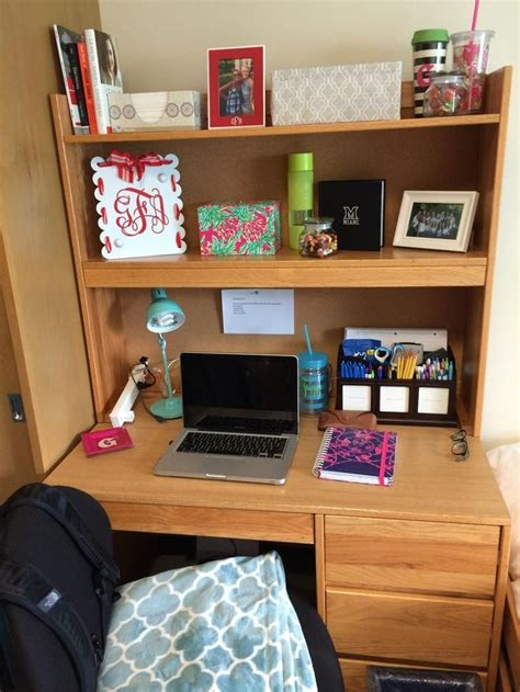 College Desk Organization Desk Organizing Residencehall College Pinterest