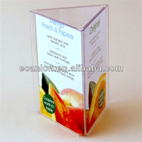 Acrylic Tent Card triangle acryli table tent holder with name card pocket