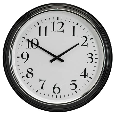 wall clocks bravur wall clock black ikea