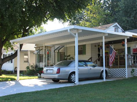 Aluminum Car Port by 20 X 24 Wall Attached Aluminum Carport Kit 025 Patio