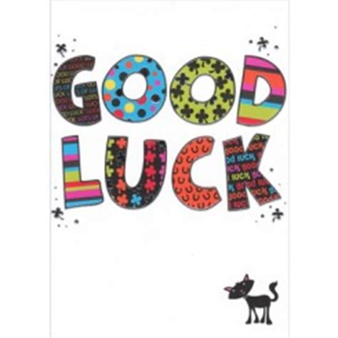 best of luck card template luck cards templates free clipart best