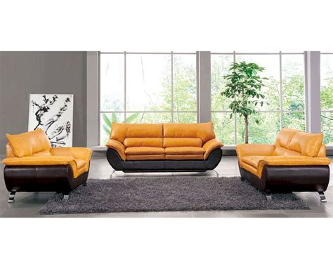 Two Tone Leather Sofa Two Tone Leather Sofa Set European Design 33ss221