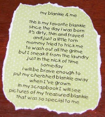 Baby Quilt Poem by Southern Gurl Crafting Baby Blankets