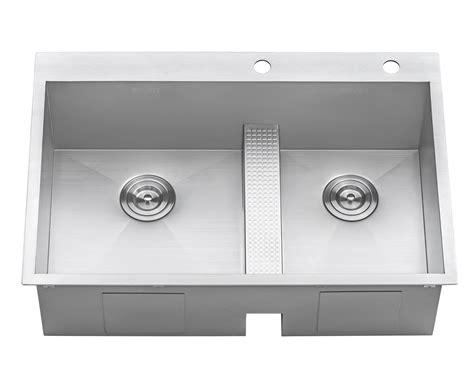 Wide Kitchen Sink Ruvati Rvh8059 Drop In Low Wide Divide 33 Quot Kitchen Sink 16
