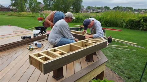 building a deck bench outdoor living how to build a low to the ground deck part 2