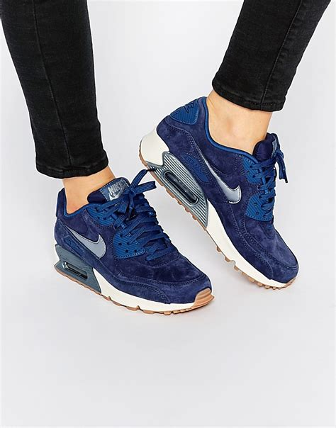 Nike Airmax 90 Suede image 1 of nike midnight navy air max 90 prm suede