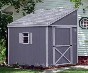 6 x 10 lean to roof storage shed blue prints project