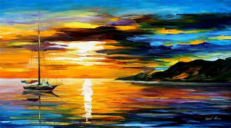 La Inspiring Brow Pallets Original Usa 100 sunset paintings by artists palette knife