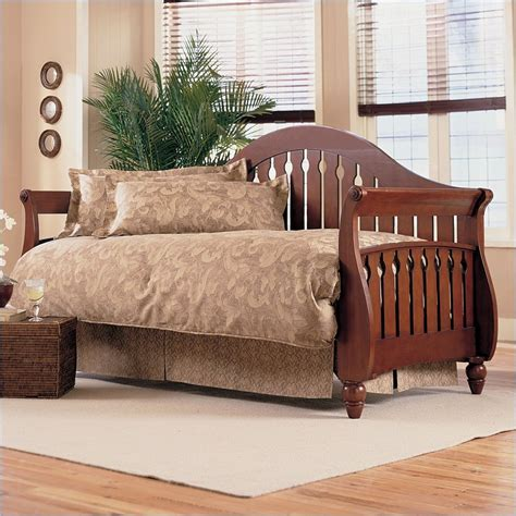 Daybed With Pop Up Trundle Bed Fraser Wood Daybed In Walnut Finish With Pop Up Trundle B50118 450029 Pkg