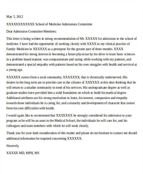Letter To Mba Admissions Committee by 8 School Recommendation Letter Sles Sle