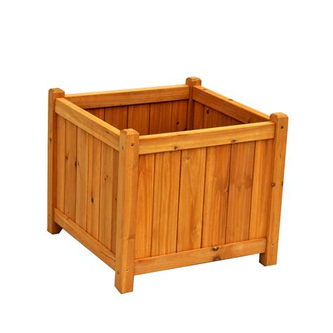 Leisure Season Pb20011 Square Planter Box Lowe S Canada Planter Boxes