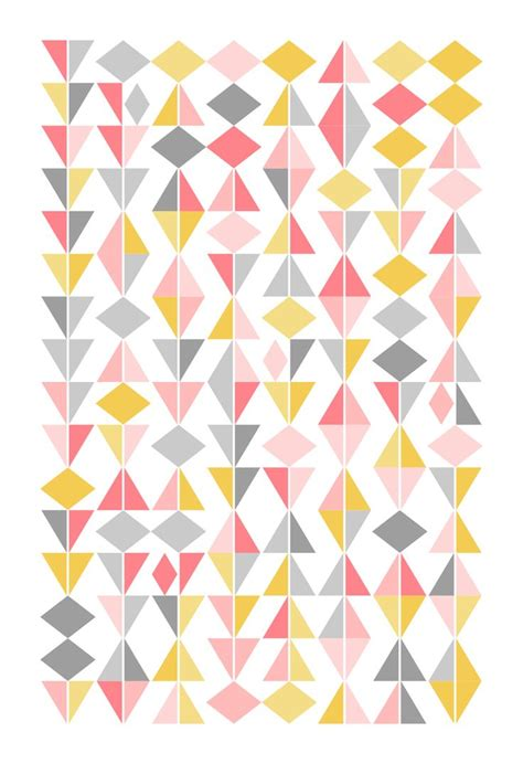 triangle pattern on wall 12x16 quot geometric poster abstract print triangles