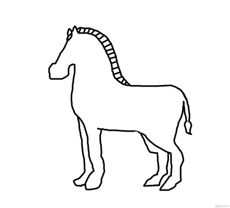Zebra Outline Images - Reverse Search