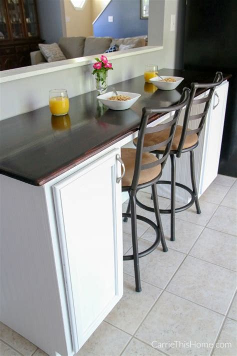 how to make a breakfast bar in a small kitchen kitchen diy breakfast bar an easy weekend project you can do