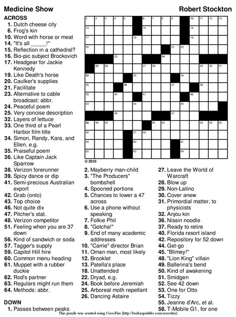 printable nursing puzzles medical crossword puzzles printable clipart library