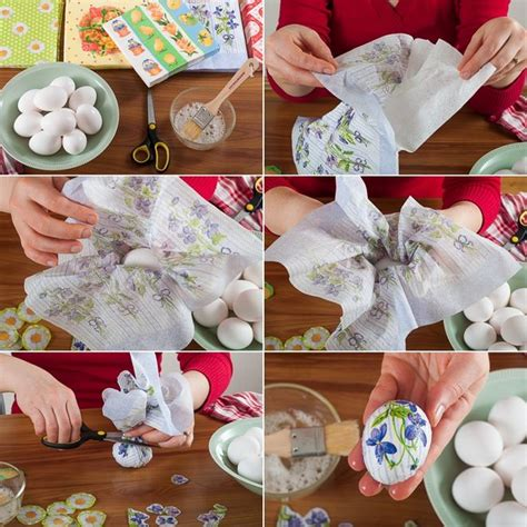 Decoupage Tutorial Napkin - 13 ideas how to decorate easter eggs with various techniques