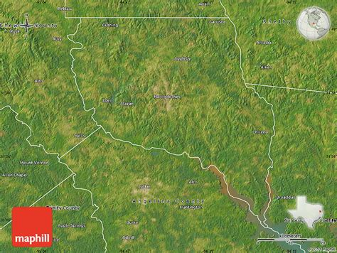 satellite maps of texas satellite map of nacogdoches county