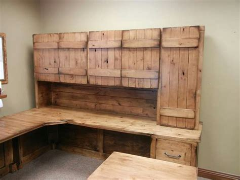 modern rustic solid knotty six rustic solid wood desk made from knotty alder aged barn