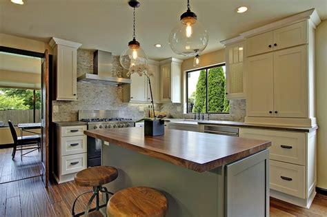 Walnut Shaker Kitchen Cabinets walnut butcher block countertop country kitchen