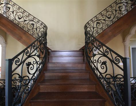 Banister Iron Works by Custom Iron Work Staircase Toronto By Bo Creative Steel Inc
