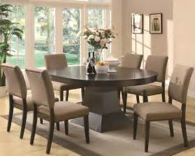 Dining Table And Chair Set Chicago Furniture Contemporary Dining Set With Oval Top Table And Parson Chairs
