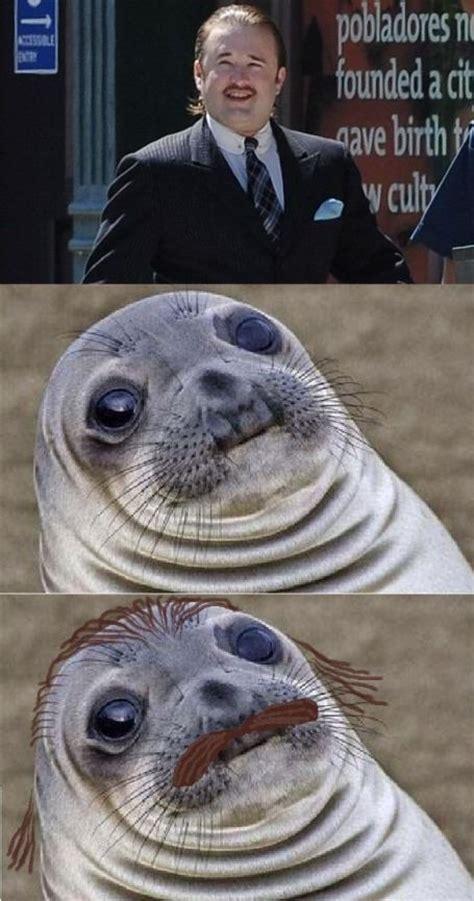Awkward Seal Meme - awkward moment seal