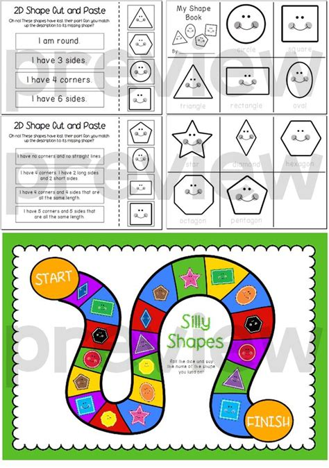 printable game board shapes let s learn about 2d shapes posters write the room