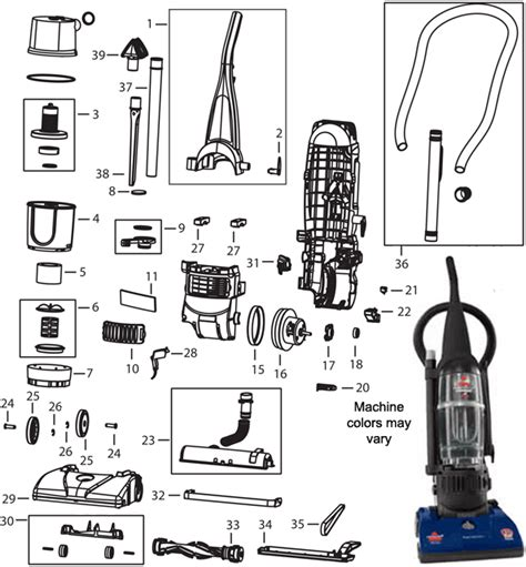 bissell carpet cleaner parts diagram bissell 6582 powerforce bagless upright vacuum cleaner parts