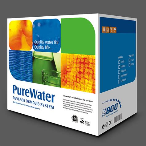 color box purepro 174 osmosis water filter systems