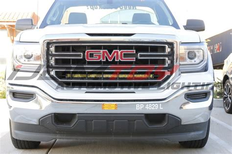 how to install silverado sierra 1500 led light bar behind