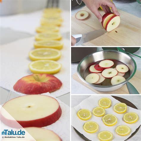 Apfelscheiben Trocknen Deko adventsgestecke selber basteln 4 ideen und