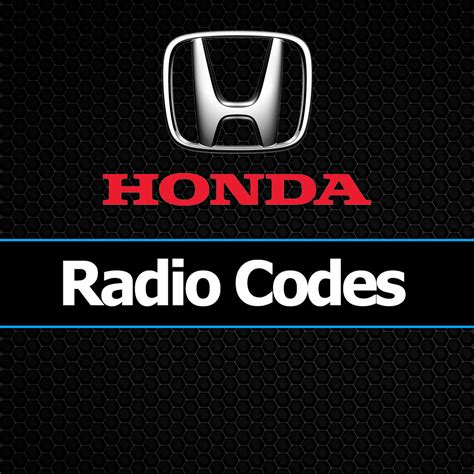 honda radio codes civic crv jazz accord insight unlock car