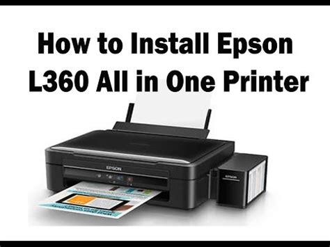 reset epson l360 free download how to install l series printers doovi