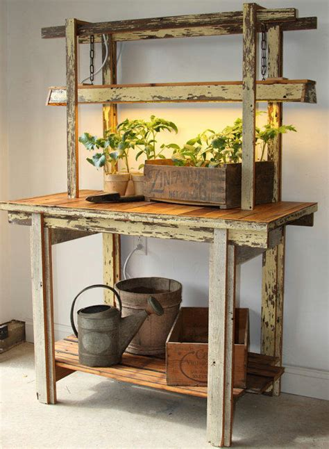 potting bench table ecogro potting table grow bench from ecogro on etsy
