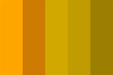 5 shades of mustard color palette