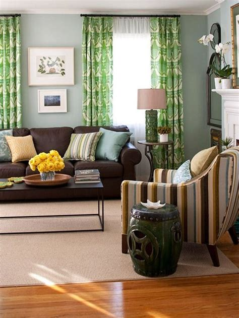 Yellow Living Room Brown Furniture Five Ways To Decorate With A Brown Sofa Decorating And On