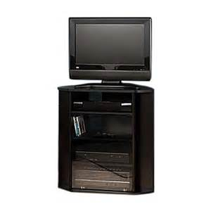 Space Saving Patio Furniture by Shop Bush Furniture Visions Black Corner Tv Stand At Lowes Com
