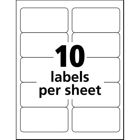avery shipping label template avery shipping label ave18163 supplygeeks