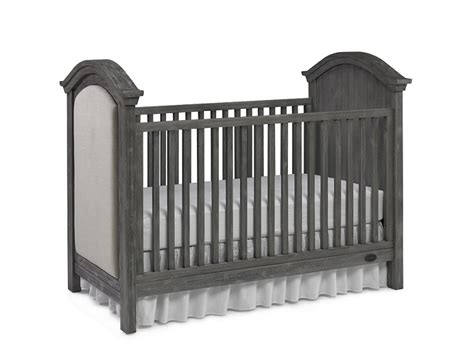 Weathered Gray Crib by Dolce Babi Lucca Upholstered Traditional Crib Weathered