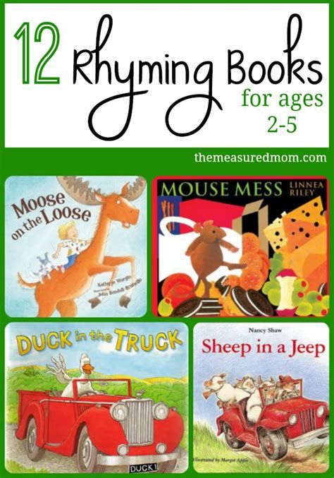 picture books for toddlers and preschoolers rhyming books for toddlers preschoolers the measured